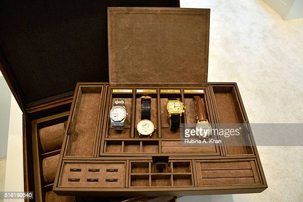 Louis Vuitton English leather suitcase with a watch holder and an extractable plateau for gentlemen's accessories customised by Bernardini Luxury...