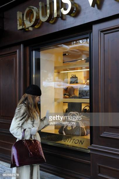 Louis Vuitton fashion and luxury shop with a russian woman as a client Cheval Blanc Hotel and Palace 5 stars located in Jardin Alpin district...