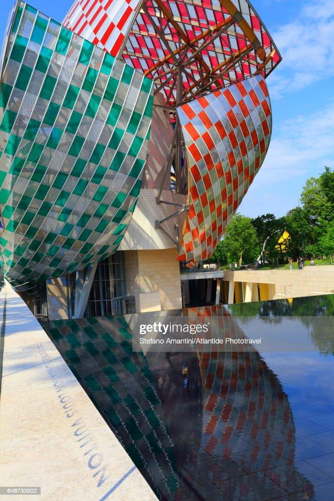 Louis Vuitton foundation in Bois de Boulogne : Stock Photo