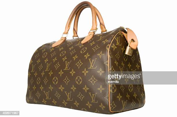 louis vuitton handbag - louis vuitton designer label stock photos and pictures