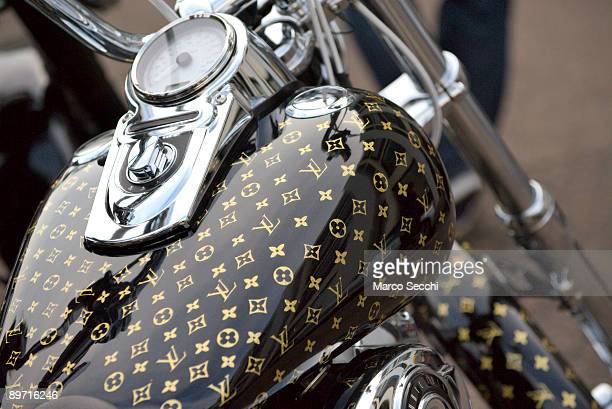 Louis Vuitton Harley Davidson at photocall for the Harley Davidson Celebrity Bike Ride on August 9 2009 in London England