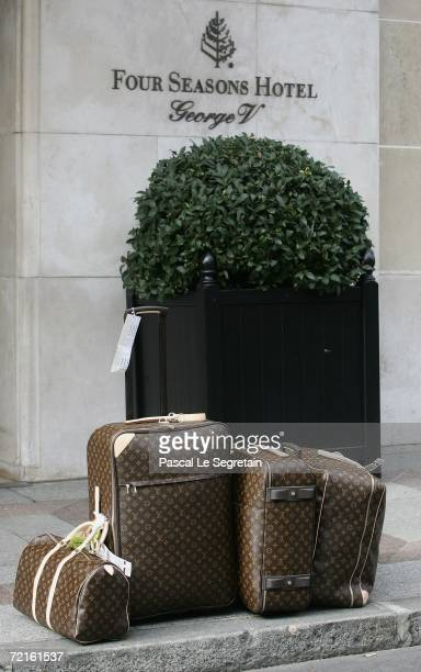 Louis Vuitton luggage in front of the Georges V hotel on October 13 2006 in Paris France