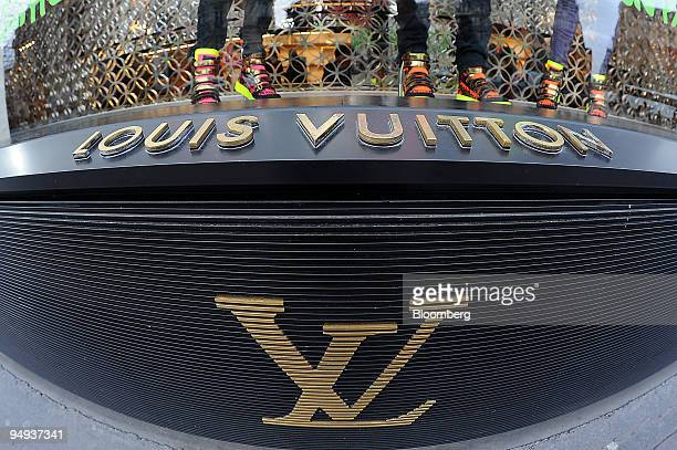 Louis Vuitton shop window is seen in Paris France on Thursday Feb 5 2009 The company releases its annual earnings today