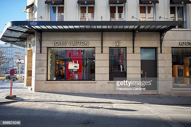Louis Vuitton store window in Brussels