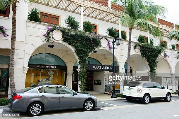 Louis Vuitton storefront on Worth Ave Palm Beach