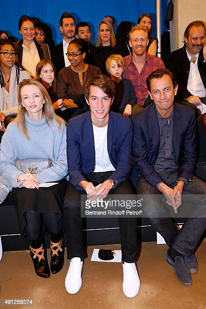 Louis Vuitton's executive vice president Delphine Arnault Alexandre Arnault and Chairman and Chief Executive of LVMH Fashion Group PierreYves Roussel...