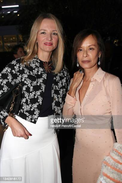"""Louis Vuitton's executive vice president Delphine Arnault and Almine Rech attend Doris Brynner celebrates her 90th Birthday at """"Le Cheval Blanc..."""