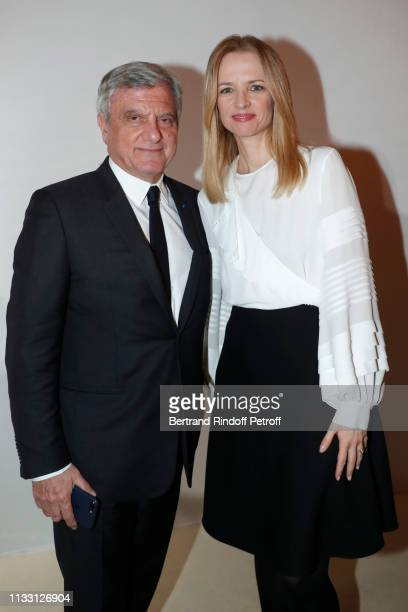 Louis Vuitton's executive vice president Delphine Arnault and Chief Executive Officer of LVMH Fashion Group Sidney Toledano attend the LVMH Prize...