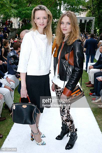 Louis Vuitton's executive vice president Delphine Arnault and Natalia Vodianova attend the Berluti show as part of the Paris Fashion Week Menswear...