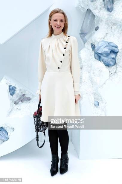 Louis Vuitton's executive vice president Delphine Arnault attend the Dior Homme Menswear Spring Summer 2020 show as part of Paris Fashion Week on...
