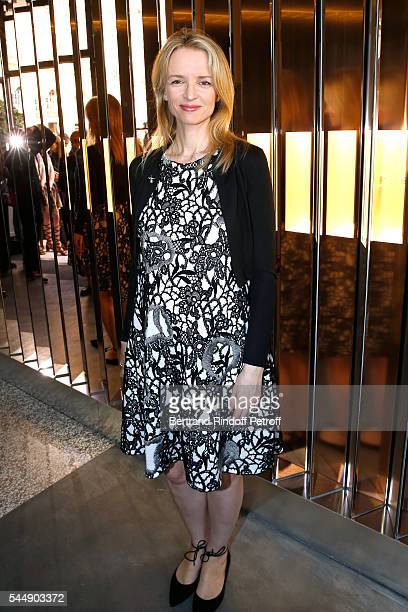 Louis Vuitton's executive vice president Delphine Arnault attend the Repossi Vendome Flagship Store Inauguration at Place Vendome on July 4 2016 in...