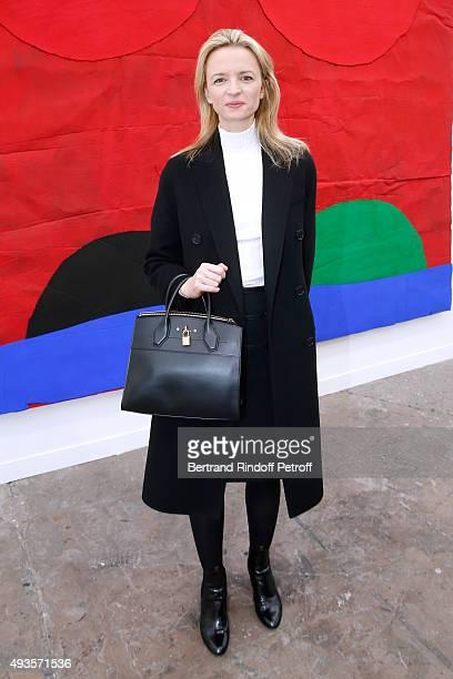 Louis Vuitton's executive vice president Delphine Arnault attends the 'FIAC 2015 International Contemporary Art Fair' at Le Grand Palais on October...