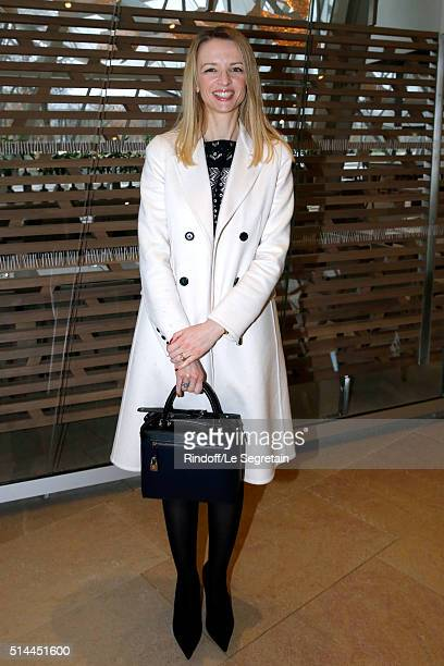 Louis Vuitton's executive vice president Delphine Arnault attends the Louis Vuitton show as part of the Paris Fashion Week Womenswear Fall/Winter...