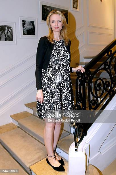Louis Vuitton's executive vice president Delphine Arnault attends the Christian Dior Haute Couture Fall/Winter 20162017 show as part of Paris Fashion...