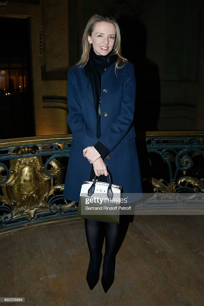 Louis Vuitton's executive vice president, Delphine Arnault attends the Berluti Menswear Fall/Winter 2017-2018 show as part of Paris Fashion Week on January 20, 2017 in Paris, France.