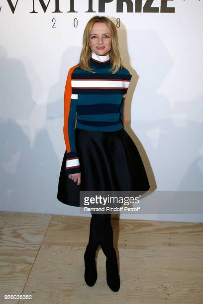 Louis Vuitton's executive vice president Delphine Arnault attends the LVMH Prize 2018 Designers Presentation on March 1 2018 in Paris France