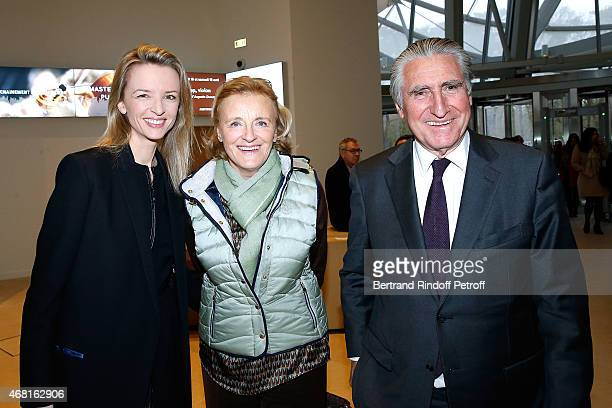 Louis Vuitton's executive vice president Delphine Arnault Baron ErnestAntoine Seilliere and wife Baroness Antoinette Seilliere attend the 'Les Clefs...