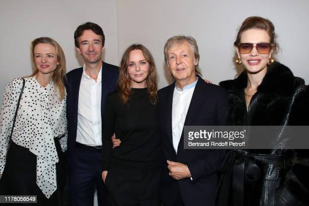 Louis Vuitton's executive vice president Delphine Arnault, her brother General manager of Berluti Antoine Arnault, Stylist Stella McCartney, her...