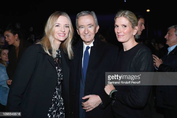 Louis Vuitton's executive vice president Delphine Arnault Owner of LVMH Luxury Group Bernard Arnault and Segolene Frere Gallienne attend the Louis...