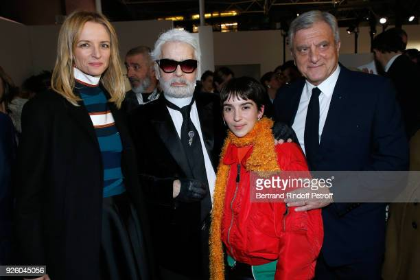 Louis Vuitton's executive vice president Delphine Arnault stylist Karl Lagerfeld Winner of the 'Young Fashion Designer' LVMH Prize 2017 Stylist...