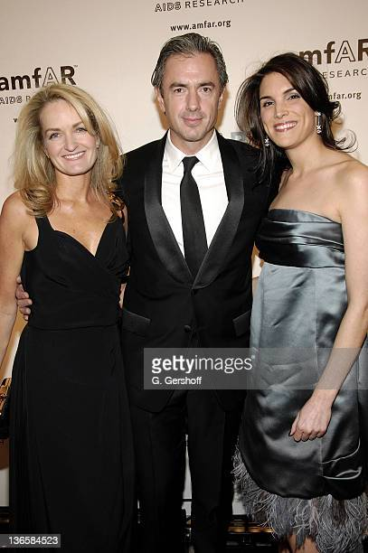 Louis Vuitton's marketing VP Heather Vandenberghe President and CEO of Louis Vuitton Daniel Lalonde and Amy Erbesfeld attend amfAR's 2008 New York...