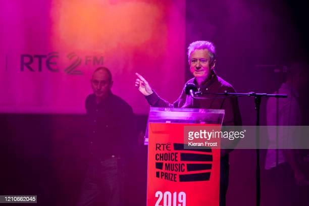 Louis Walsh accepts the RTE Choice Music Prize song of the year award on behalf of Westlife at Vicar Street on March 05 2020 in Dublin Dublin