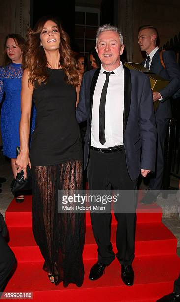 Louis Walsh and Glenda Gilson attending the Cosmopolitan Ultimate Women Of The Year Awards on December 3, 2014 in London, England.