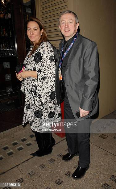 Louis Walsh and guest during Brit Awards 2007 Sony BMG After Party at Tamari in London Great Britain