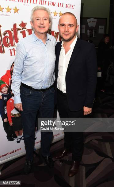 Louis Walsh and Jamie Wilson attend the world premiere press night performance of 'Nativity The Musical' at Eventim Apollo Hammersmith on December 14...