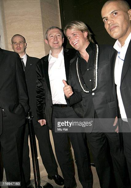 Louis Walsh and Kian Egan attend the Sony BMG Brits After Show Party held at The Cuckoo Club