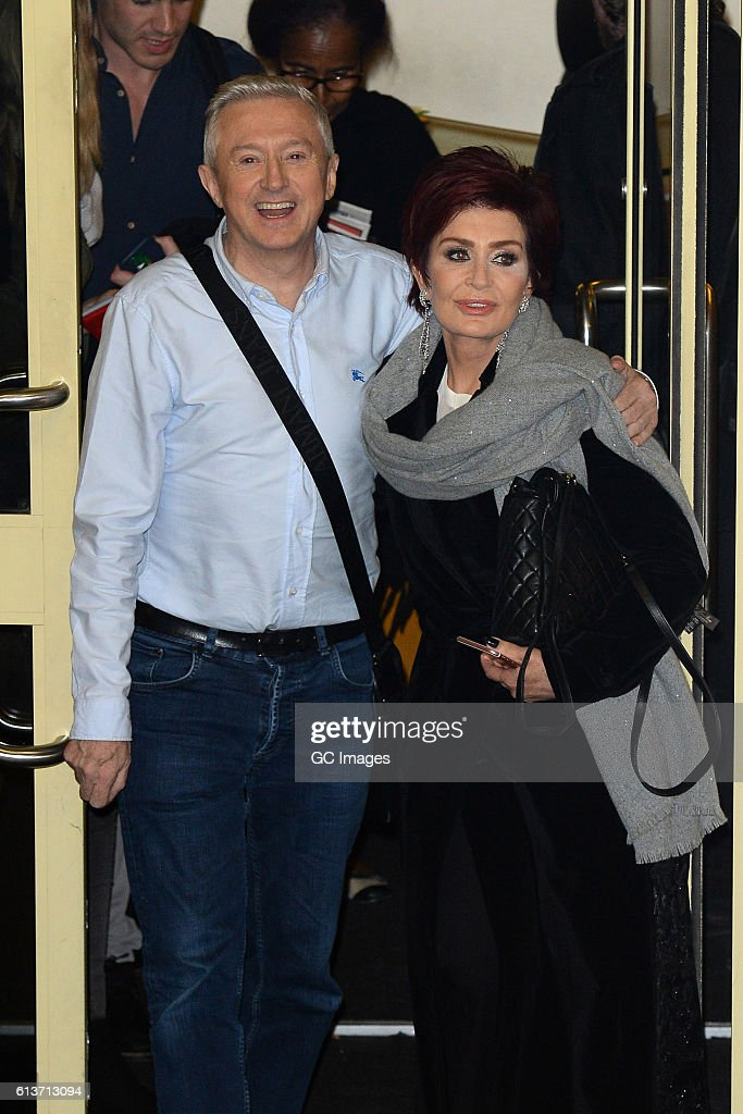 Louis Walsh and Sharon Osbourne seen leaving the Fountain Studios after X Factor on October 9, 2016 in London, England.