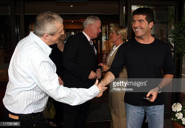 Louis Walsh and Simon Cowell during Dublin X Factor Auditions - July 6, 2006 at Jurys Ballsbridge Hotel in Dublin, Ireland.