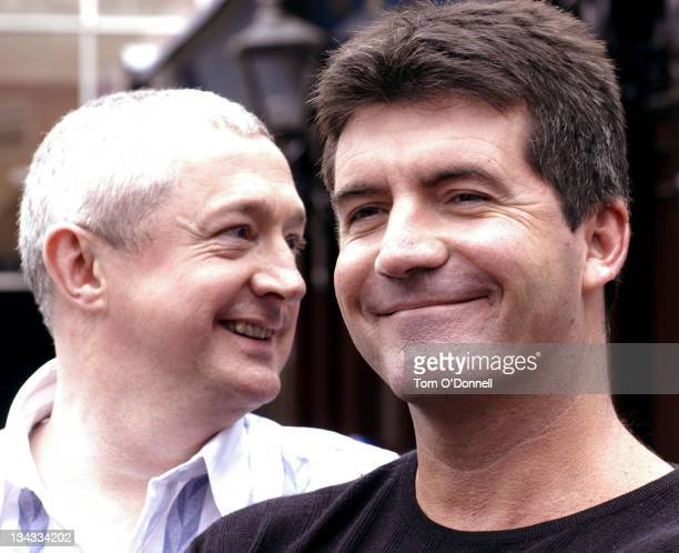 Louis Walsh and Simon Cowell during Ireland Auditions For New TV Talent Show 'X Factor' at Jury's Hotel in Dublin Ireland
