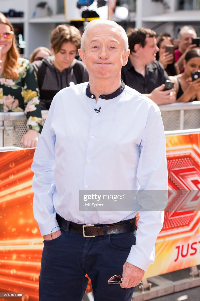 Louis Walsh arriving at The X Factor Bootcamp auditions at Wembley Arena on July 21, 2017 in London, England.