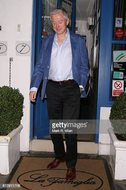 Louis Walsh at La Famiglia restaurant for Simon Cowells Birthday on October 5 2016 in London England