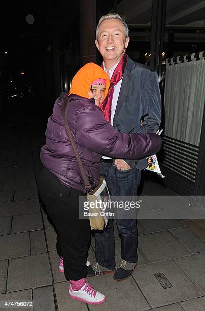 Louis Walsh is seen is greeted by his superfan Tania on November 04 2012 in London United Kingdom
