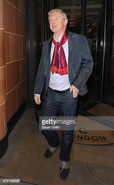 Louis Walsh is seen leaving a restaurant on November 04 2012 in London United Kingdom