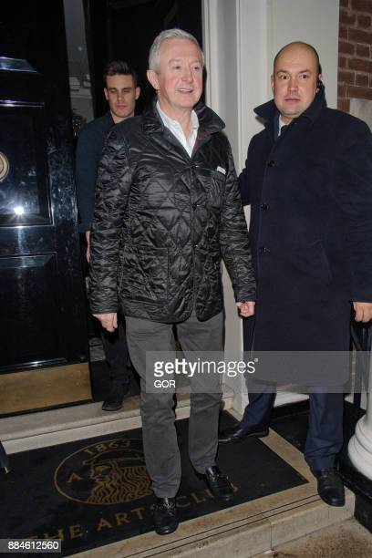 Louis Walsh is seen leaving the Arts Club Mayfair on December 2 2017 in London England