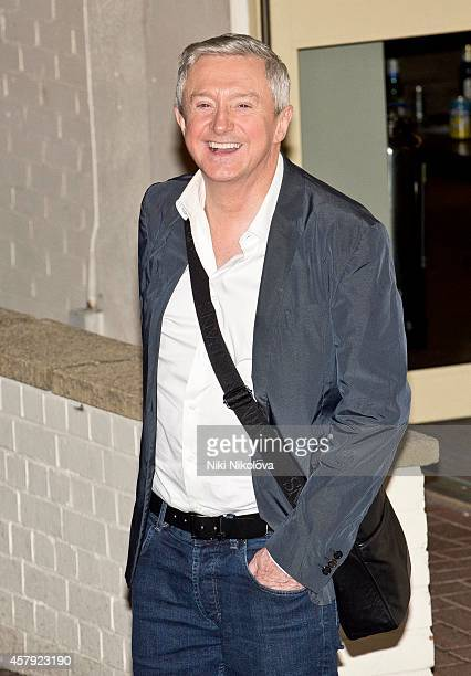 Louis Walsh is seen leaving 'The X Factor' held at Fountain Studios Wembley on October 26 2014 in London England