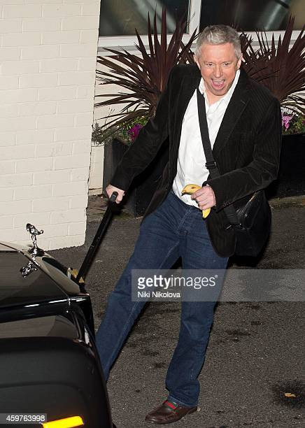 Louis Walsh is seen leaving 'The X Factor' held at Fountain Studios Wembley on November 30 2014 in London England