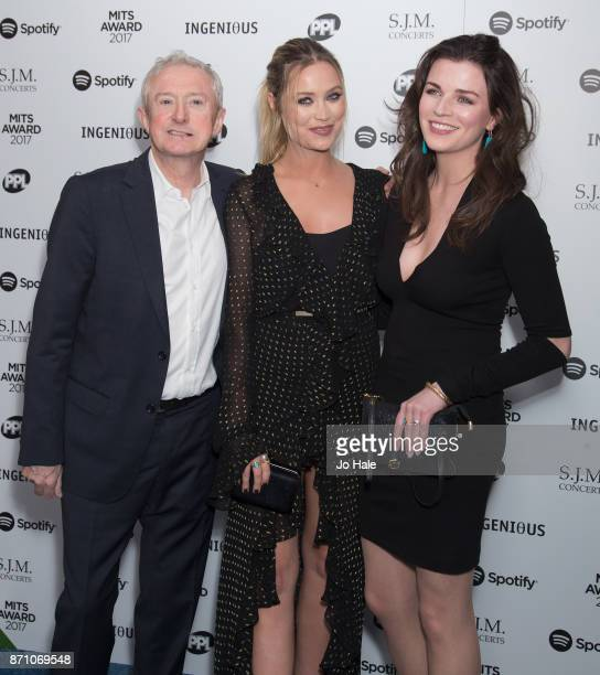 Louis Walsh Laura Whitmore and Aisling Bea attending the 26th annual Music Industry Trust Awards held at The Grosvenor House Hotel on November 6 2017...