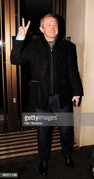 Louis Walsh leaves the Mayfair Hotel on November 12, 2009 in London, England.
