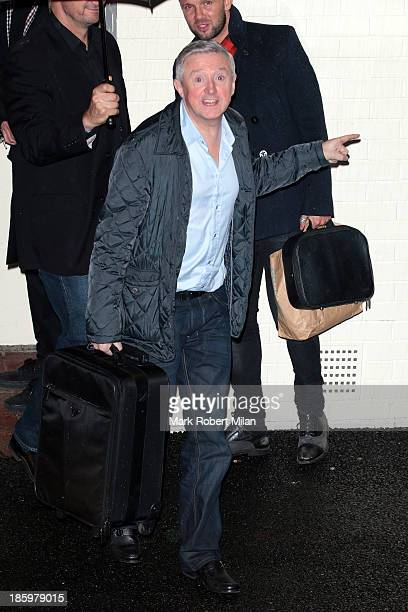 Louis Walsh leaving Fountain Studios after filming the X Factor live show on October 26 2013 in London England