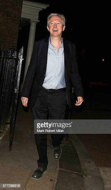 Louis Walsh leaving the Syco summer party at St James' Palace on July 18 2016 in London England