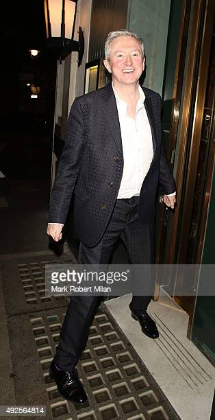 Louis Walsh seen leaving The Ivy Restaurant on October 13 2015 in London England