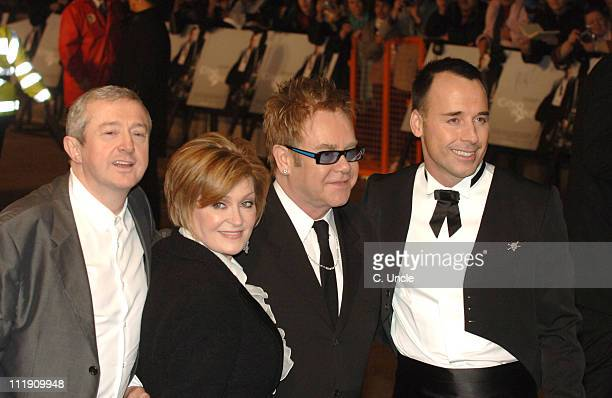 Louis Walsh, Sharon Osbourne, Elton John and David Furnish