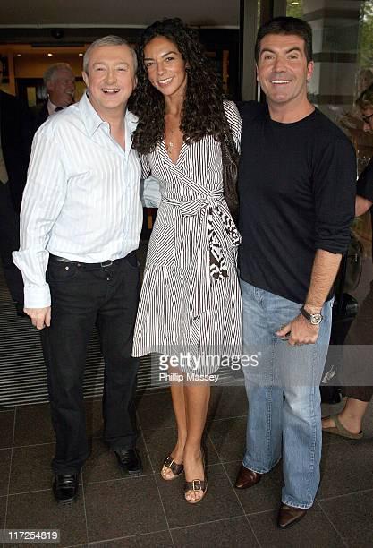 Louis Walsh, Terri Seymour and Simon Cowell during Dublin X Factor Auditions - July 6, 2006 at Jurys Ballsbridge Hotel in Dublin, Ireland.