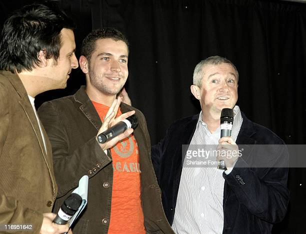 Louis Walsh with Shayne Ward and host Key 103's Mike Toolan