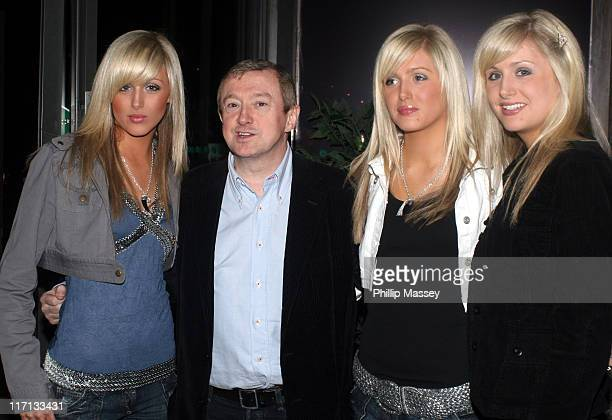 Louis Walsh with the Crimmins triplets during Shayne Ward Louis Walsh and Former Boyzone Member Mikey Graham at the Late Late Show Dublin Ireland 21...