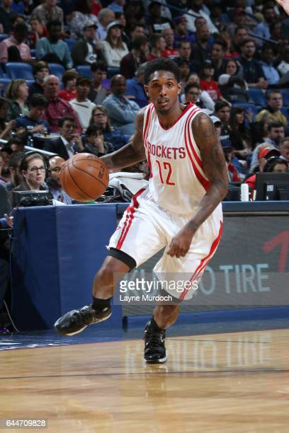 Louis Williams of the Houston Rockets handles the ball during a game against the New Orleans Pelicans on February 23 2017 at Smoothie King Center in...